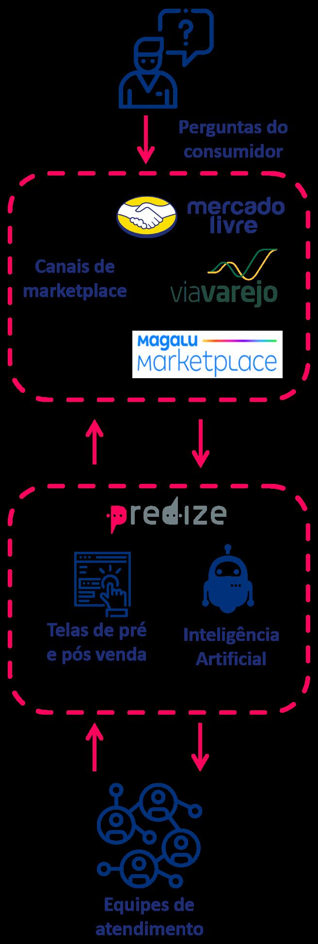 Fluxo de funcionamento do Predize