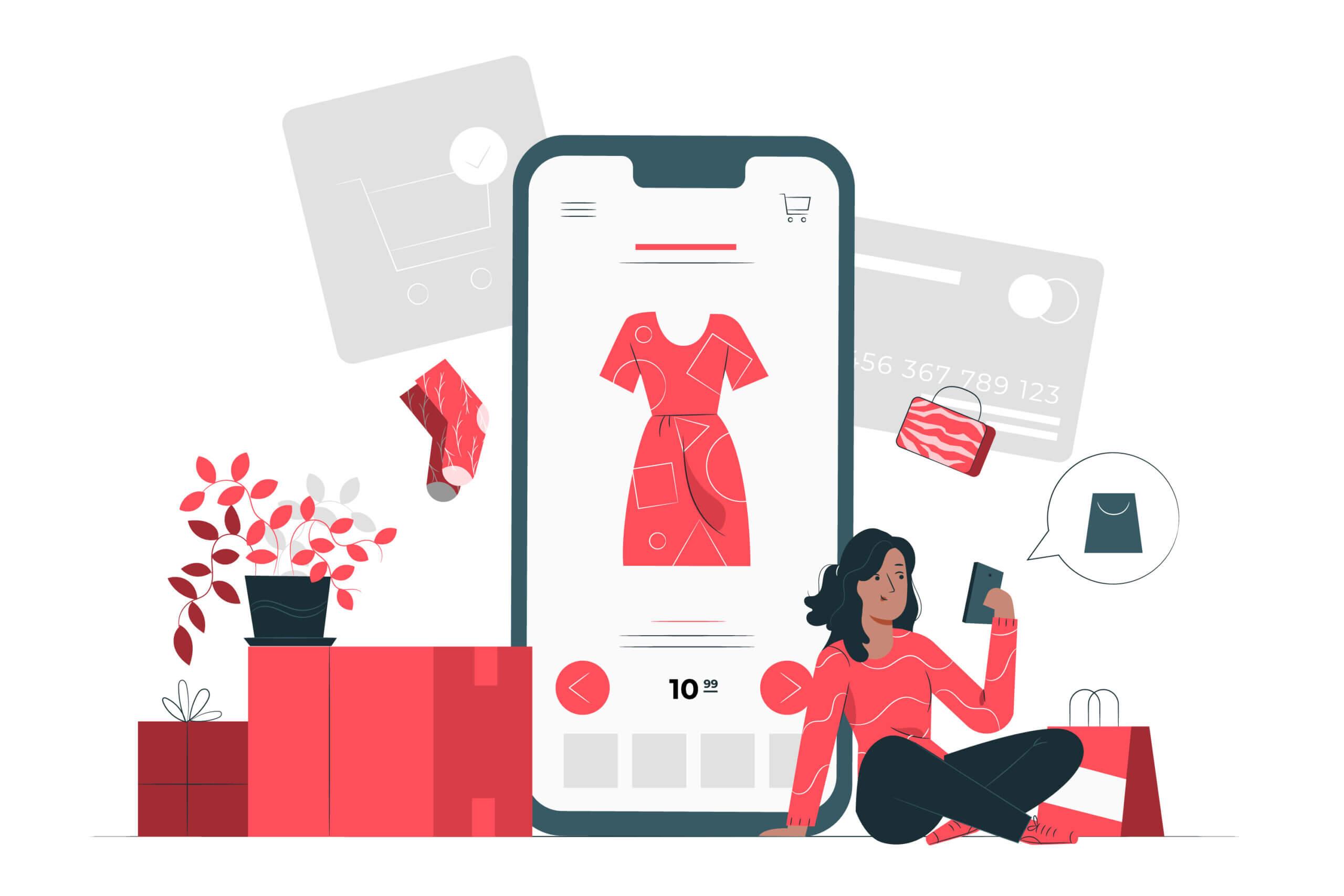 Ilustração de anúncio em marketplaces